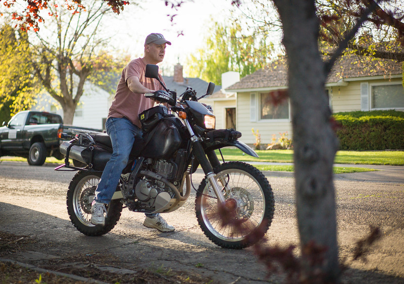 Dave from St. Albert on his DR650